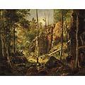 Лиственный лес на скалистом берегу. Валаам (Forest on the rocky shore. Valaam)