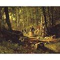 Лесной пейзаж с цаплями (Forest Landscape with Herons)